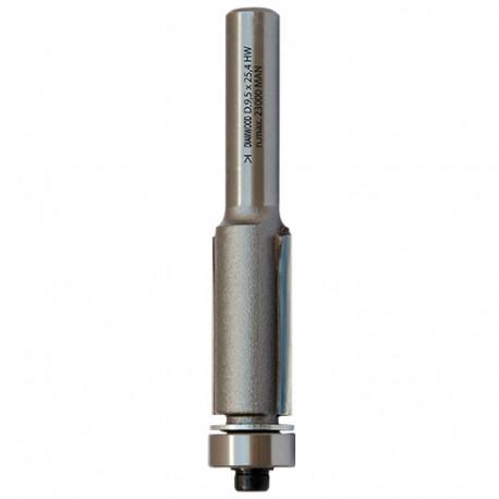 Mèche d'affleureuse droite HM micrograin + roulement D. 12,7 x Lt. 67 x Lu. 25,4 x Q 6 mm x Z2 - Diamwood Platinum