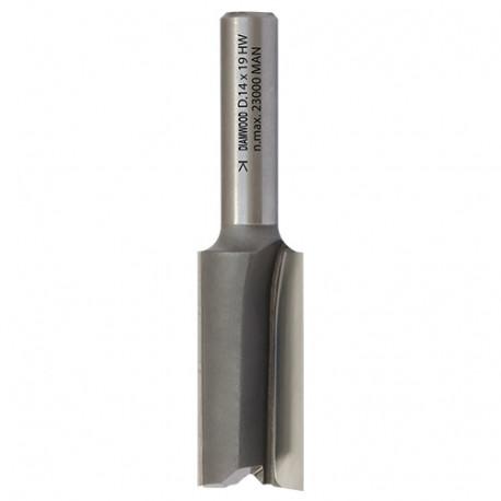 Mèche à rainer droite HM micrograin D. 19 x Lt. 51 x Lu. 19 x Q 8 mm x Z2 - Diamwood Platinum