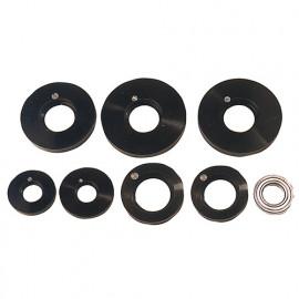 Coffret 7 pcs guides à billes pour toupie D. 90 à 125 mm avec roulement D. 62 x Ht. 16 x Al. 30 mm - fixtout Platinum
