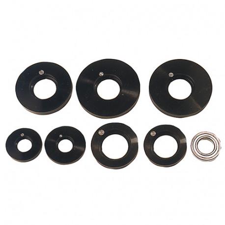 Coffret 7 pcs guides à billes pour toupie D. 90 à 125 mm avec roulement D. 62 x Ht. 16 x Al. 30 mm - Diamwood Platinum