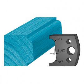 Jeu de 2 contre-fers profilés Ht. 38 x 4 mm moulure spéciale étagère A02 pour porte-outils de toupie - fixtout Platinum