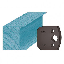 Jeu de 2 contre-fers profilés Ht. 38 x 4 mm double congé A03 pour porte-outils de toupie - fixtout Platinum