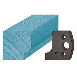 Jeu de 2 contre-fers profilés Ht. 38 x 4 mm congé A13 pour porte-outils de toupie - fixtout Platinum