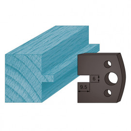 Jeu de 2 contre-fers profilés Ht. 38 x 4 mm languette 6 mm A17 pour porte-outils de toupie - fixtout Platinum
