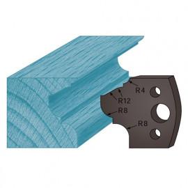 Jeu de 2 contre-fers profilés Ht. 38 x 4 mm moulure style A89 pour porte-outils de toupie - fixtout Platinum