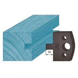 Jeu de 2 contre-fers profilés Ht. 38 x 4 mm rainure 8 mm A94 pour porte-outils de toupie - fixtout Platinum