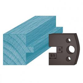 Jeu de 2 contre-fers profilés Ht. 38 x 4 mm languette 8 mm A95 pour porte-outils de toupie - fixtout Platinum