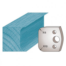 Jeu de 2 fers profilés Ht. 40 x 4 mm double congé M03 pour porte-outils de toupie - fixtout Platinum