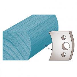 Jeu de 2 fers profilés Ht. 40 x 4 mm main courante M08 pour porte-outils de toupie - fixtout Platinum