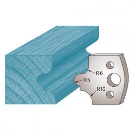 Jeu de 2 fers profilés Ht. 40 x 4 mm congé à gorge M12 pour porte-outils de toupie - fixtout Platinum