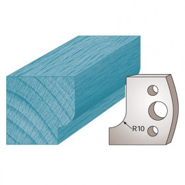 Jeu de 2 fers profilés Ht. 40 x 4 mm congé M13 pour porte-outils de toupie - fixtout Platinum