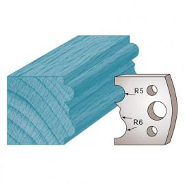 Jeu de 2 fers profilés Ht. 40 x 4 mm moulure spéciale cadre M29 pour porte-outils de toupie - fixtout Platinum