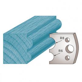 Jeu de 2 fers profilés Ht. 40 x 4 mm boudin double M51 pour porte-outils de toupie - fixtout Platinum