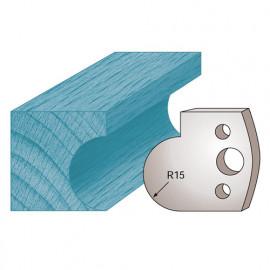 Jeu de 2 fers profilés Ht. 40 x 4 mm gorge M65 pour porte-outils de toupie - fixtout Platinum