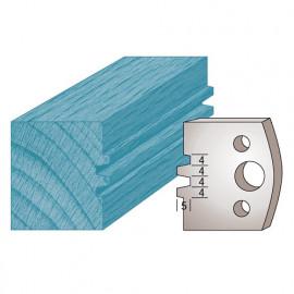 Jeu de 2 fers profilés Ht. 40 x 4 mm bouvetage enture 4 mm M75 pour porte-outils de toupie - fixtout Platinum
