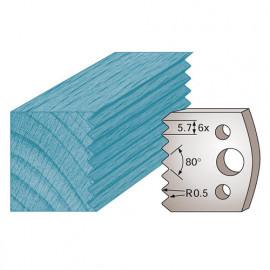 Jeu de 2 fers profilés Ht. 40 x 4 mm bouvetage dents de scie M77 pour porte-outils de toupie - fixtout Platinum