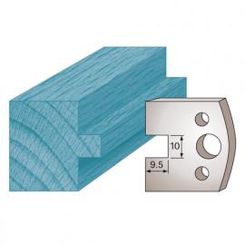 Jeu de 2 fers profilés Ht. 40 x 4 mm languette 10 mm M92 pour porte-outils de toupie - fixtout Platinum