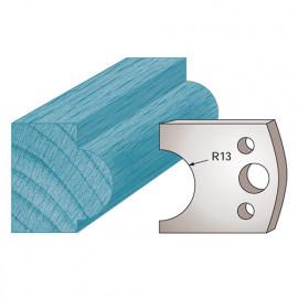 Jeu de 2 fers profilés Ht. 40 x 4 mm mouton M119 pour porte-outils de toupie - fixtout Platinum