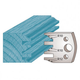 Jeu de 2 fers profilés Ht. 40 x 4 mm profil / contre-profil M124 pour porte-outils de toupie - fixtout Platinum