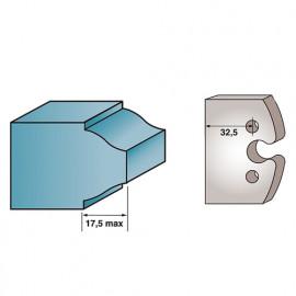 Jeu de 2 fers profilés Ht. 40 x 4 mm BRUT M193 pour porte-outils de toupie - fixtout Platinum