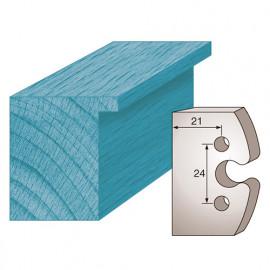 Jeu de 2 fers profilés Ht. 40 x 4 mm BRUT M195 pour porte-outils de toupie - fixtout Platinum