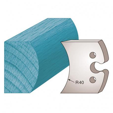 Jeu de 2 fers profilés Ht. 50 x 5,5 mm moulure spéciale étagère M215 pour porte-outils de toupie - Diamwood Platinum
