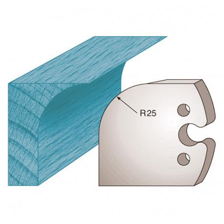 Jeu de 2 fers profilés Ht. 50 x 5,5 mm congé M218 pour porte-outils de toupie - Diamwood Platinum