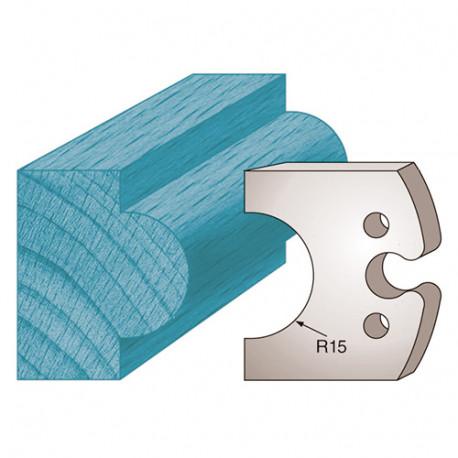 Jeu de 2 fers profilés Ht. 50 x 5,5 mm mouton M227 pour porte-outils de toupie - Diamwood Platinum