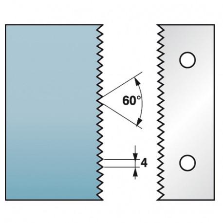 Jeu de 2 fers profilés Ht. 90 x 5,5 mm enture multiple 4 mm M590.134 pour porte-outils de toupie - Diamwood Platinum