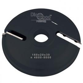 Porte-outils de toupie plate-bande par-dessus D. 160 x Al. 30 x Ep. 20 x P. 48 mm Z 2 - fixtout Platinum