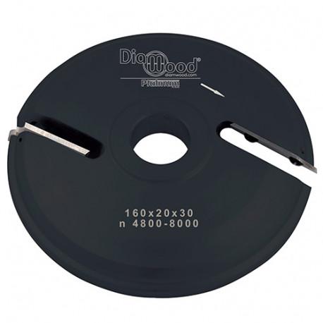 Porte-outils de toupie plate-bande par-dessus D. 160 x Al. 30 x Ep. 20 x P. 48 mm Z 2 - Diamwood Platinum