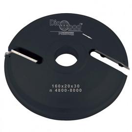 Porte-outils de toupie plate-bande par-dessous D. 160 x Al. 30 x Ep. 20 x P. 48 mm Z 2 - fixtout Platinum