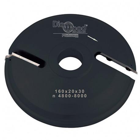 Porte-outils de toupie plate-bande par-dessous D. 160 x Al. 30 x Ep. 20 x P. 48 mm Z 2 - Diamwood Platinum