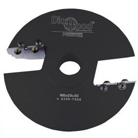 Porte-outils de toupie plate-bande par-dessus D. 180 x Al. 30 x Ep. 28 x P. 50 mm Z 2 - fixtout Platinum