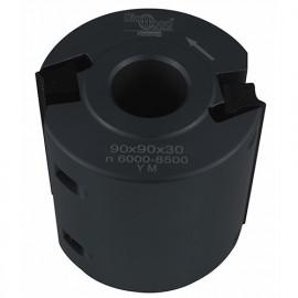 Porte-outils de toupie à moulurer D. 90 x Al. 30 x Ht. 90 mm Z 2 - fixtout Platinum