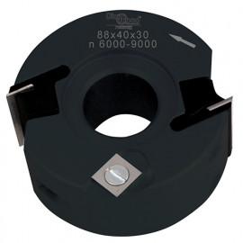 Porte-outils de toupie à feuillurer et profiler D. 90 x Al. 30 x Ht. 40 mm Z 2 et V 1+1 - fixtout Platinum