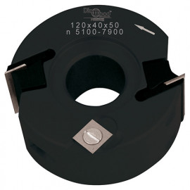 Porte-outils de toupie à feuillurer et profiler D. 120 x Al. 50 x Ht. 40 mm Z 2 et V 1+1 - fixtout Platinum