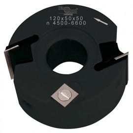 Porte-outils de toupie à feuillurer et profiler D. 120 x Al. 50 x Ht. 50 mm Z 2 et V 1+1 - fixtout Platinum