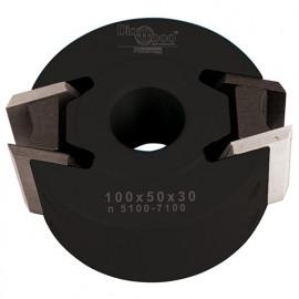 Porte-outils de toupie à profiler avec contre-fers D. 100 x Al. 30 x Ht. 50 mm Z 2 - fixtout Platinum