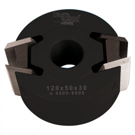 Porte-outils de toupie à profiler avec contre-fers D. 120 x Al. 50 x Ht. 50 mm Z 2 - fixtout Platinum