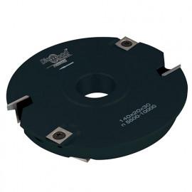 Porte-outils de toupie pour bouvetage de tiroir D. 140 x Al. 30 x Ep. 20 mm Z 2 et V 2+2 - fixtout Platinum