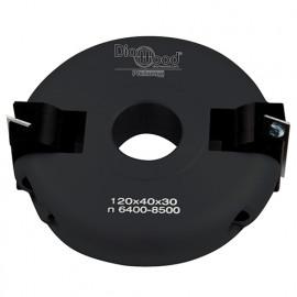 Porte-outils de toupie inclinable de 0 à 90° D. 120 x Al. 30 x Ht. 40 mm Z 2 - fixtout Platinum