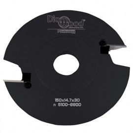 Porte-outils de toupie profils et contre-profils par-dessus D. 150 x Al. 30 x Ht. 14,7 x Avt. 17 mm Z 2 - fixtout Platinum