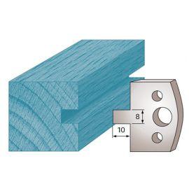 Jeu de 2 fers profilés Ht. 40 x 4 mm rainure 8 mm M94 pour porte-outils de toupie - fixtout Platinum