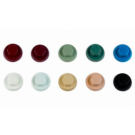 1000 capuchons nylon pour vis à tête hexagonale M10 RAL 9018 - ATAPO10BO - Index