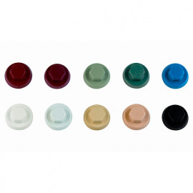 1000 capuchons nylon pour vis à tête hexagonale M10 RAL 3003 - ATAPO10RC - Index