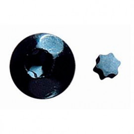 100 étoiles de tête de vis inviolable de type INVN70 noir RAL 9005 - ESTRINV40N - Index