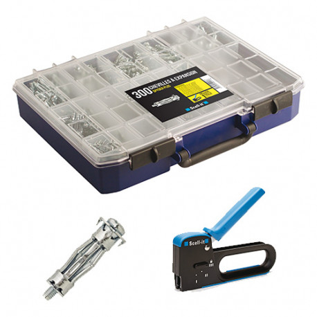 Coffret de 300 chevilles métallique Spyder Plus à expansion premium avec pince à expansion Optee - COF002-SPPLUS - Scell-it
