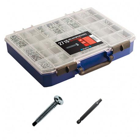 Coffret de 2715 vis autoperceuces, tête cylindrique, empreinte carré et 4 embouts - COF008-TCQ - Scell-it