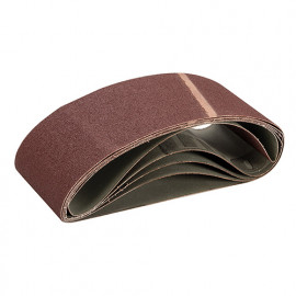 Lot de 5 bandes abrasives corindon 100 x 560 mm Grain 80 - 366393 - Triton